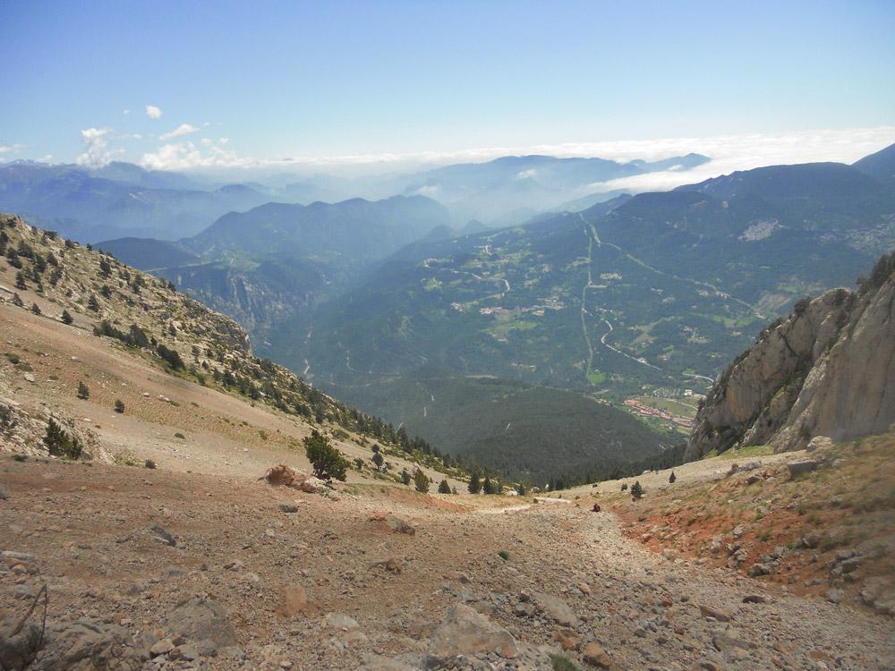 Enforcadura del Pedraforca y vistas a la tartera de Saldes